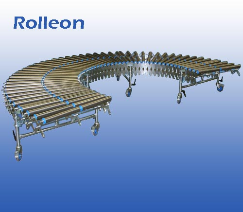 Harmonica rollenbaan met stalen rollen (min. 1,9 m - max. 4,4 m) breedte 80 cm